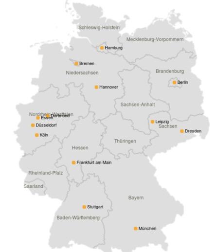 Wohnmobil Deutschlandkarte